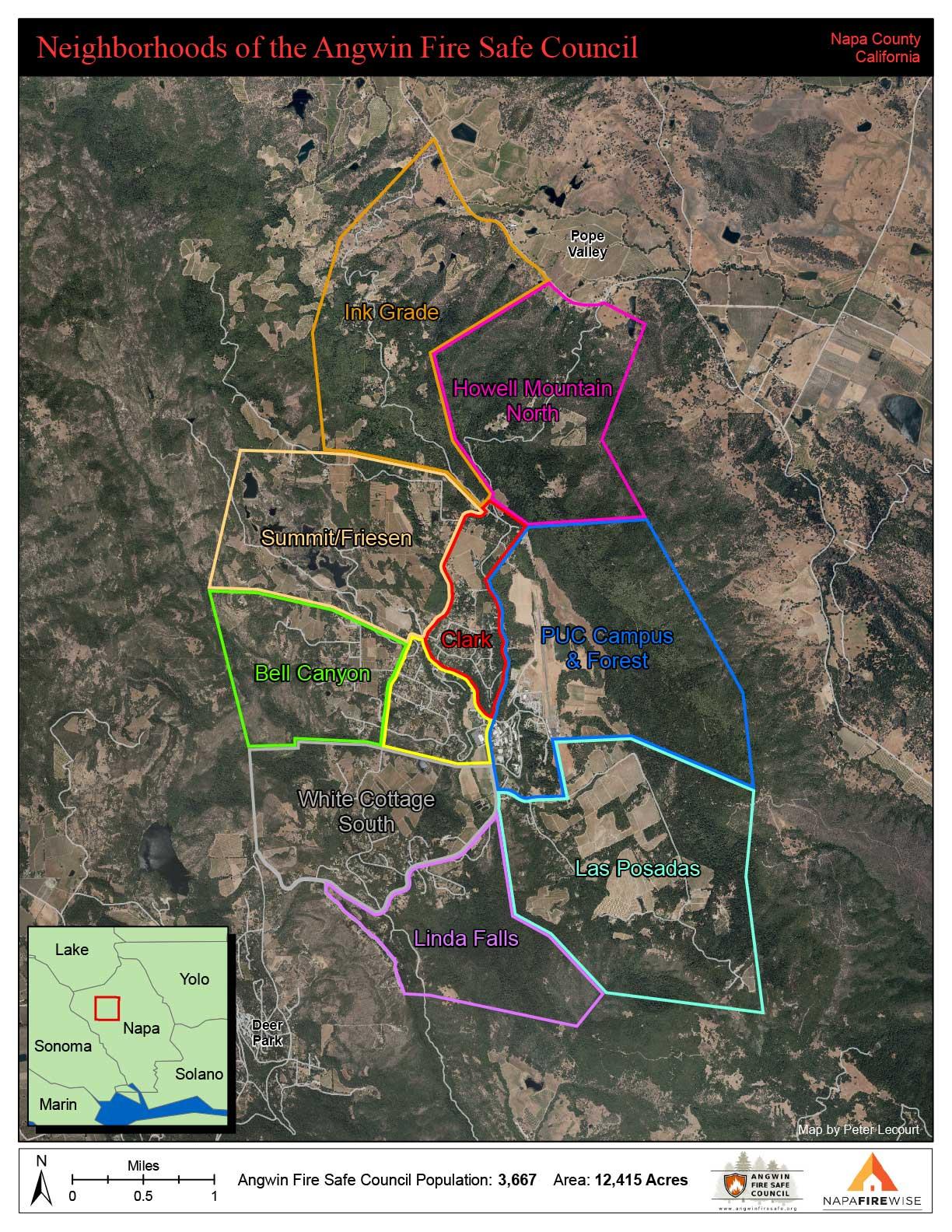map of Angwin neighborhoods